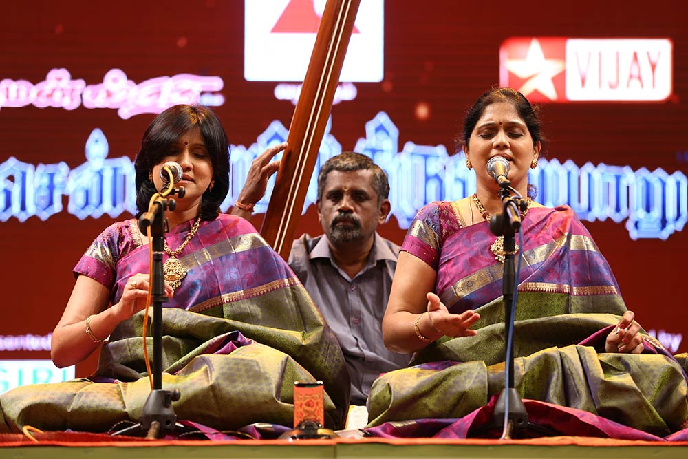 Priya Sisters- Vocal at Chennaiyil Thiruvaiyaru – Season 09