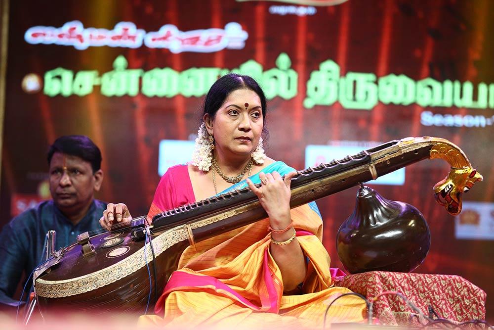 Revathy Krishna – Veena at Chennaiyil Thiruvaiyaru – Season 11