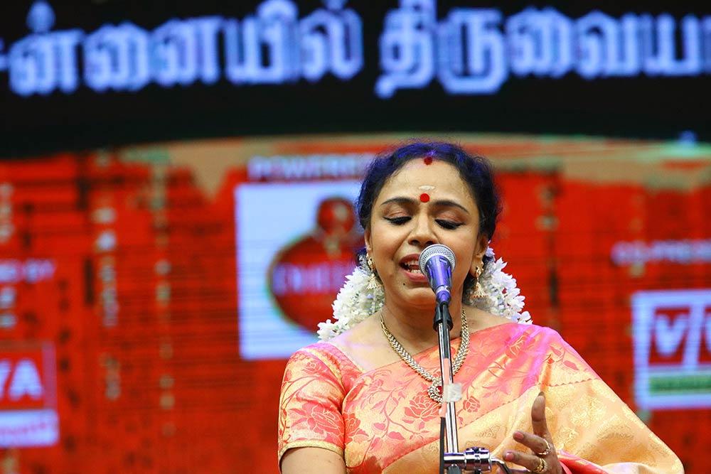 Sudha Ragunathan – Vocal at Chennaiyil Thiruvaiyaru – Season 13
