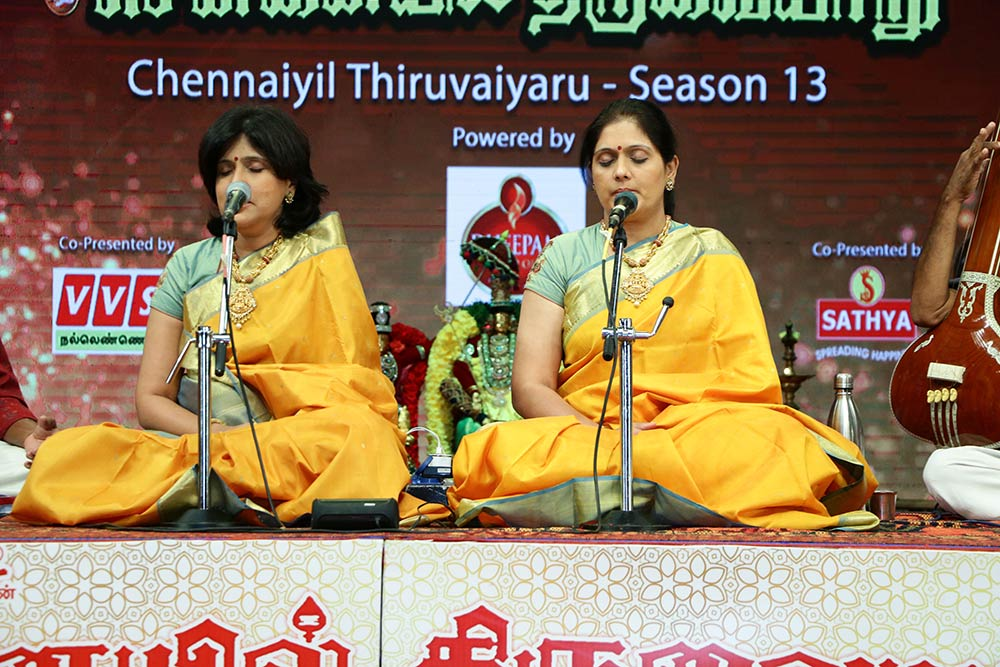Priya Sisters– Vocal at Chennaiyil Thiruvaiyaru – Season 13