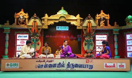 Raginishri – Vocal at Chennaiyil Thiruvaiyaru – Season 10