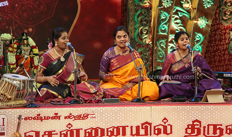 Suchithra, Vinaya & Vithya – Vocal at Chennaiyil Thiruvaiyaru – Season 15
