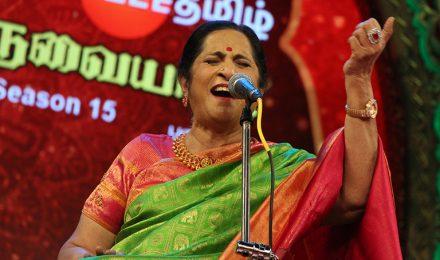 Aruna Sairam – Vocal at Chennaiyil Thiruvaiyaru – Season 15