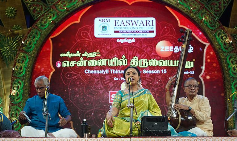 Sudha Raghunathan - Vocal at Chennaiyil Thiruvaiyaru - Season 15