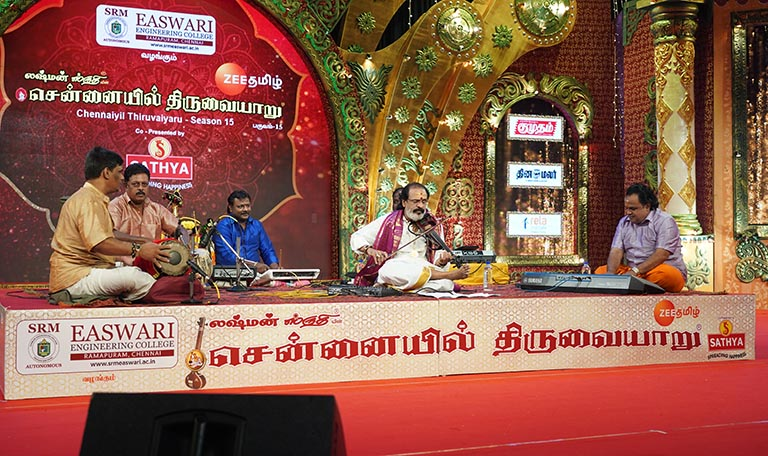 Manibharathi – Violin at Chennaiyil Thiruvaiyaru – Season 15